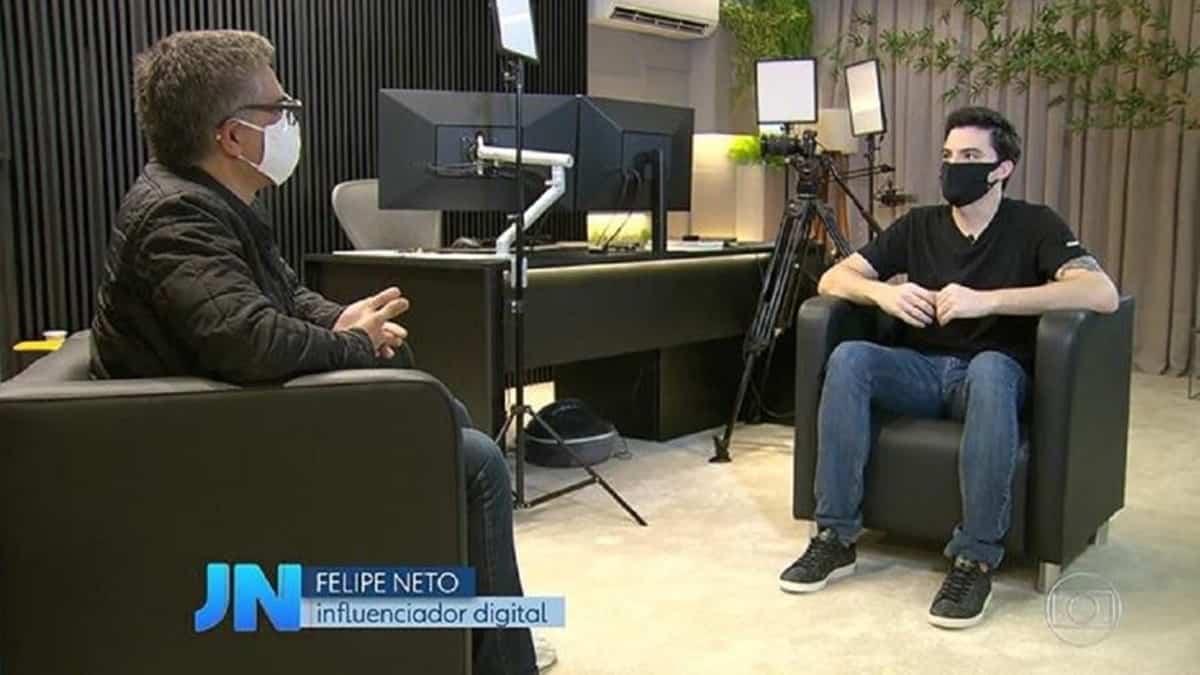 Felipe Neto revelou que tem sido alvo de mentiras na web (Reprodução/TVGlob)
