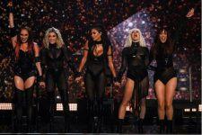 The Pussycat Dolls durante primeira apresentação no The X Factor em 2019