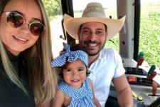 Waléria Motta, Caio Afiune e a filha