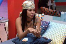 Pocah contou no BBB21 que foi agredida e traída durante gravidez (Foto: Reprodução/TV Globo)