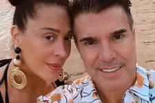 Claudia Raia e Jarbas Homem de Mello; atriz elogiou corpão do marido (Foto: Reprodução/Instagram)