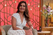 Fátima Bernardes no estúdio do Encontro; apresentadora postou foto em momento com Túlio Gadêlha (Foto: Reprodução/Instagram)