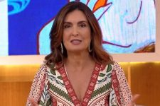 Fátima Bernardes no comando do Encontro; apresentadora mostrou bastidores de entrevista a Pedro Bial (Foto: Reprodução/TV Globo)
