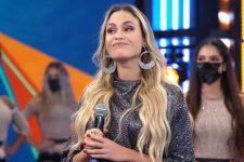 Sarah Andrade durante participação no Domingão do Faustão; entrevista com ex-BBB21 foi barrada pela Globo (Foto: Reprodução/TV Globo)