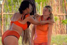 Íris e Ariadna brigam em No Limite (Reprodução/TVGlobo)