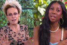 Ana Maria Braga causou polêmica após se referir à Camilla de Lucas como simplória no Mais Você (Foto: Reprodução/TV Globo)