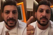 Caio Afiune ficou revoltado com a Globo após vídeo no BBB21 insinuar que ele mentiu (Foto: Reprodução/TV Globo)