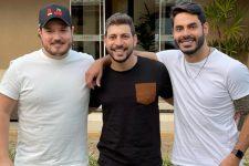 Israel, Caio Afiune e Rodolffo Matthaus; ex-BBB21 se revoltou com questionamento sobre ciúmes (Foto: Reprodução/Instagram)