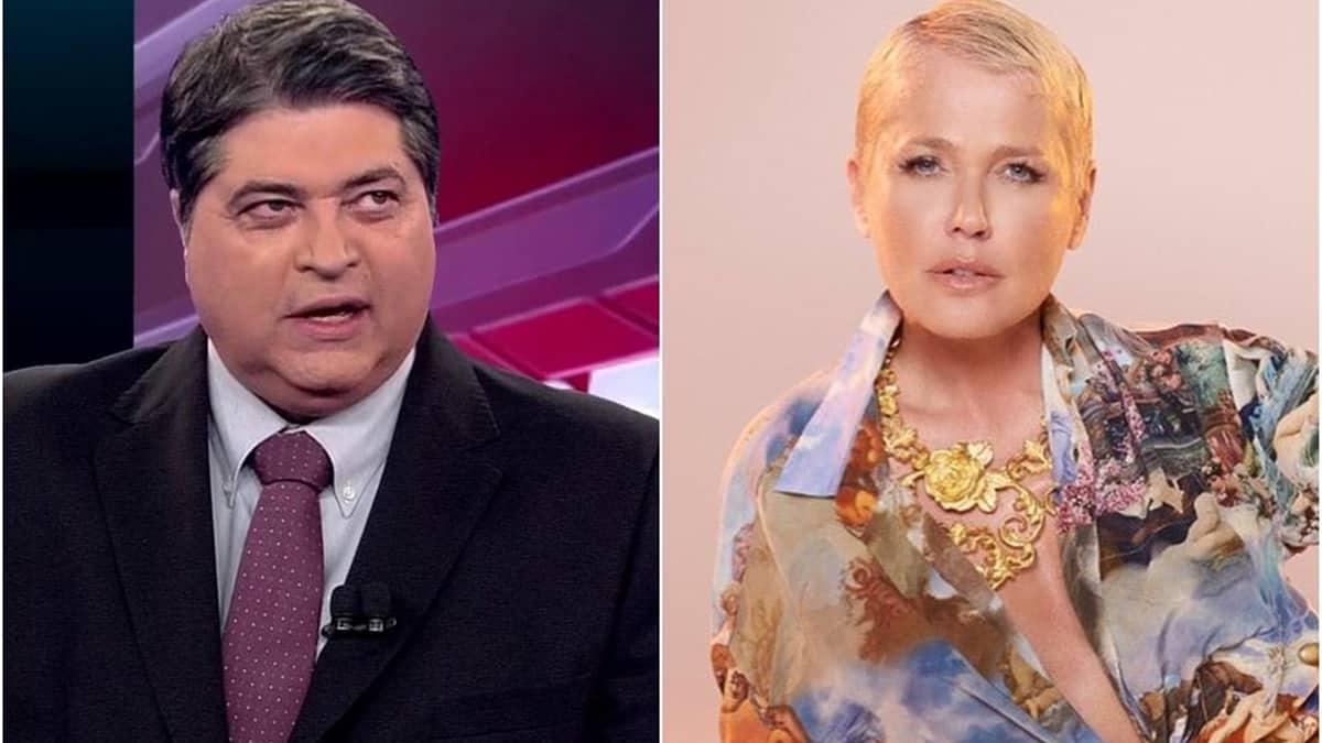 José Luiz Datena e Xuxa Meneghel; apresentador da Band foi condenado a pagar indenização após comentário ofensivo (Foto: Reprodução)