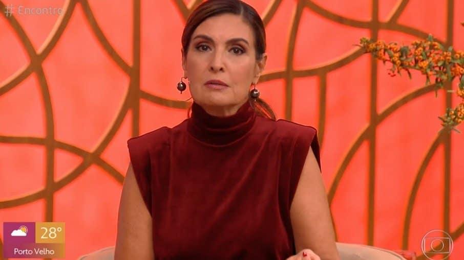 Fátima Bernardes no comando do Encontro (Foto: Reprodução/TV Globo)