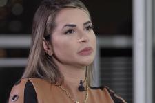 Deolane Bezerra em entrevista ao Fantástico; viúva de MC Kevin relatou últimos momentos com o cantor (Foto: Reprodução/TV Globo)