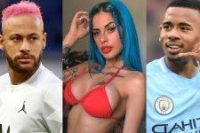 Neymar, Tati Zaqui e Gabriel Jesus