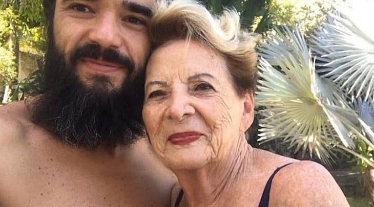 Caio Blat e Dona Janete, sua avó (Reprodução)