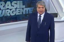 José Luiz Datena no comando do Brasil Urgente; apresentador e a Band foram condenados pela Justiça (Foto: Reprodução/Band)