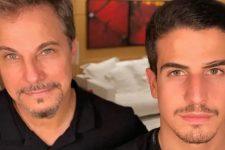Edson Celulari e Enzo Celulari; ator falou sobre o relacionamento do filho com Bruna Marquezine (Foto: Reprodução/Instagram)