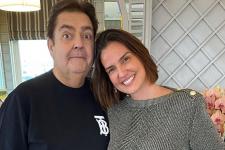 Faustão e a esposa, Luciana Cardoso; mulher do apresentador deixou mensagem na web (Foto: Reprodução/Instagram)