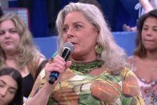 Vera Fischer em entrevista ao Altas Horas; atriz revela que sofreu abuso psicológico (Foto: Reprodução/TV Globo)