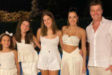 Rodrigo Faro, Vera Viel e as filhas