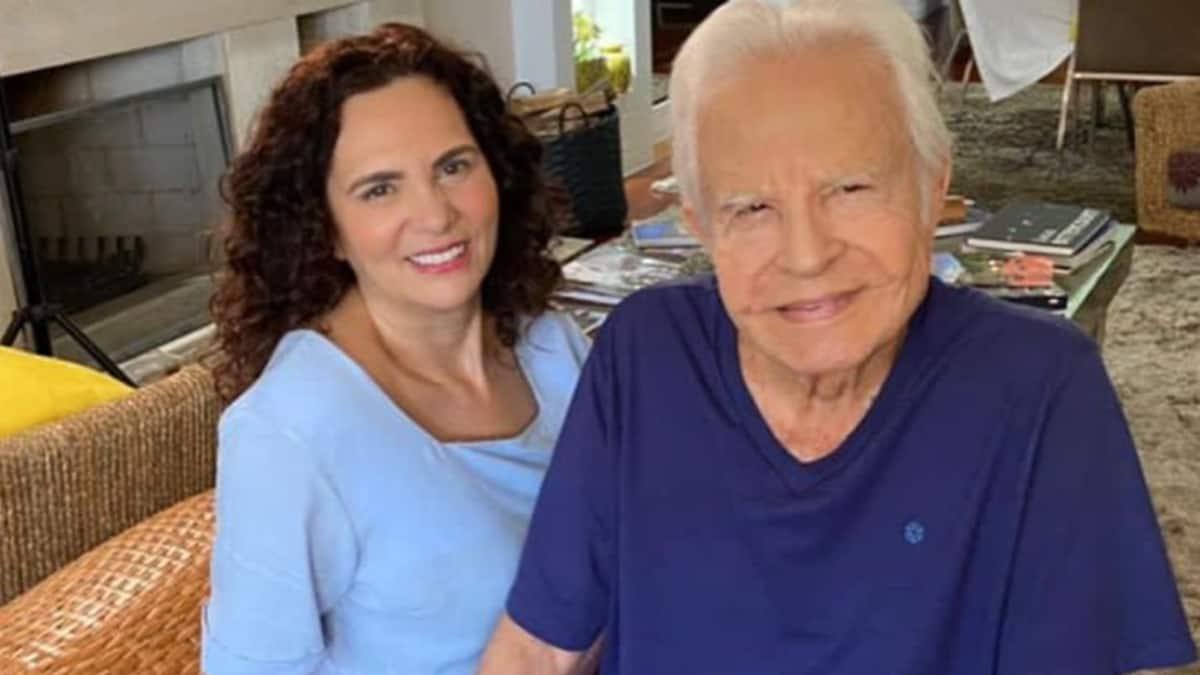 Cid Moreira e a mulher, Fátima Sampaio (Foto: Reprodução/Instagram)