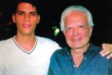 Roger Felipe Moreira e Cid Moreira; filho adotivo deserdado reclama na Justiça (Foto: Reprodução/Record)