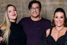 Luciano Szafir com a mulher, Luhanna Melloni, e a mãe, Beth Szafir (Foto: Reprodução/Instagram)