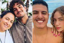 Simone Medina e Gabriel Medina; Felipe Medina e a mulher, Bruna Bordini; briga familiar acabou na Justiça (Foto: Reprodução/Instagram)