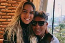Carolina Portaluppi e o pai, Renato Gaúcho