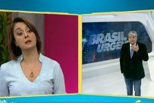 Catia Fonseca e José Luiz Datena conversam na transição entre o Melhor da Tarde e o Brasil Urgente (Foto: Reprodução/Band)