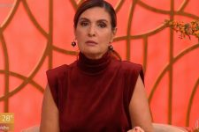 Fátima Bernardes teve mal-estar e foi substituída às pressas por Fernanda Gentil no Encontro (Foto: Reprodução/TV Globo)