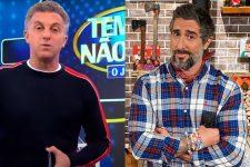 Luciano Huck e Marcos Mion; apresentadores da Globo já trocaram acusações na web (Foto: Reprodução/TV Globo/Record)