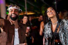 Gabigol e a irmã, Dhiô Barbosa