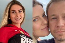 Carol Portaluppi surpreendeu; Daiana Garbin e Tiago Leifert mostraram a filha (Foto: Reprodução/Instagram)