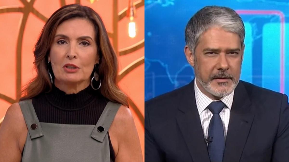 Fátima Bernardes se uniu a William Bonner contra Jair Bolsonaro (Foto: Reprodução/TV Globo)