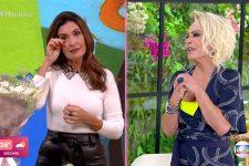 Fátima Bernardes se emocionou ao receber presente de Ana Maria Braga (Foto: Reprodução/TV Globo)