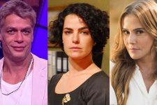Fábio Assunção, Ana Paula Arósio e Deborah Secco deixaram novelas da Globo (Foto: Reprodução/Marcio de Souza/Divulgação/TV Globo)