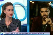 Larissa Bonesi no Fofocalizando; atriz relatou ameaças de morte após ser apontada como affair de Caio Castro (Foto: Reprodução/SBT)