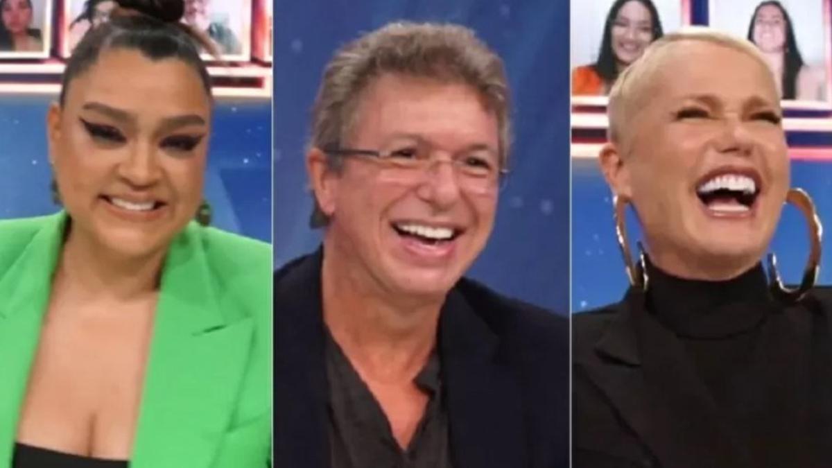 Preta Gil, Boninho e Xuxa no júri do Show dos Famosos no Domingão com Huck (Foto: Reprodução/TV Globo)