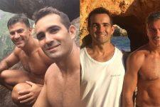 Leonardo Vieira celebra 14 anos de namoro com Leandro Fonseca