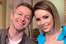 Lucas Lima e a cantora Sandy