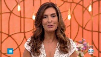 Fátima Bernardes no comando do Encontro; apresentadora se afastou para tratar da saúde (Foto: Reprodução/TV Globo)