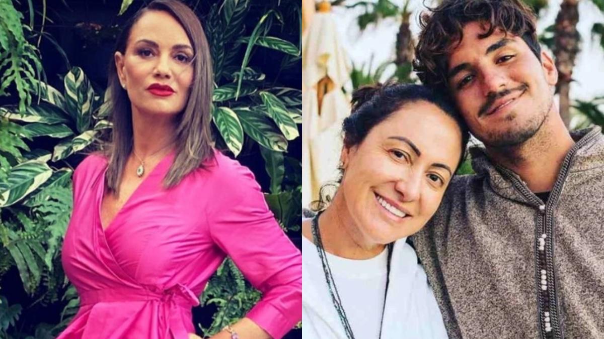 Luiza Brunet, Simone Medina e Gabriel Medina; modelo rebate ofensas e vai processar sogra de Yasmin Brunet (Foto: Reprodução/Instagram)