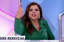 Mara Maravilha alfinetou ex-colegas no Programa Silvio Santos (Foto: Reprodução/SBT)
