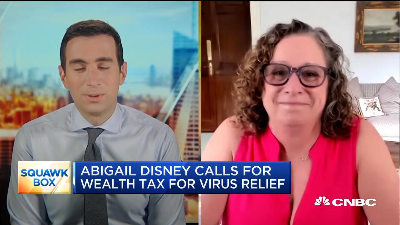 Abigail Disney durante entrevista para a CNBC