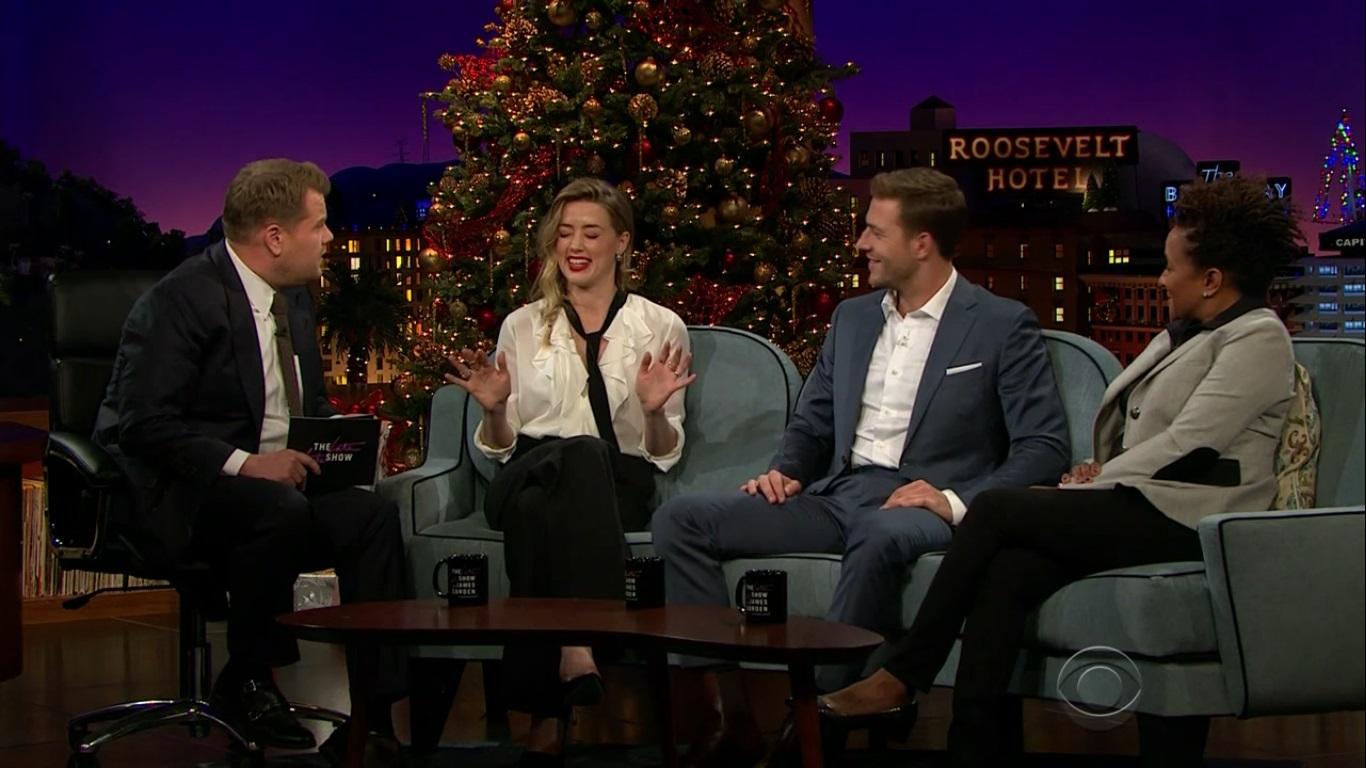 Entrevista de Amber Heard no The Late Late Show