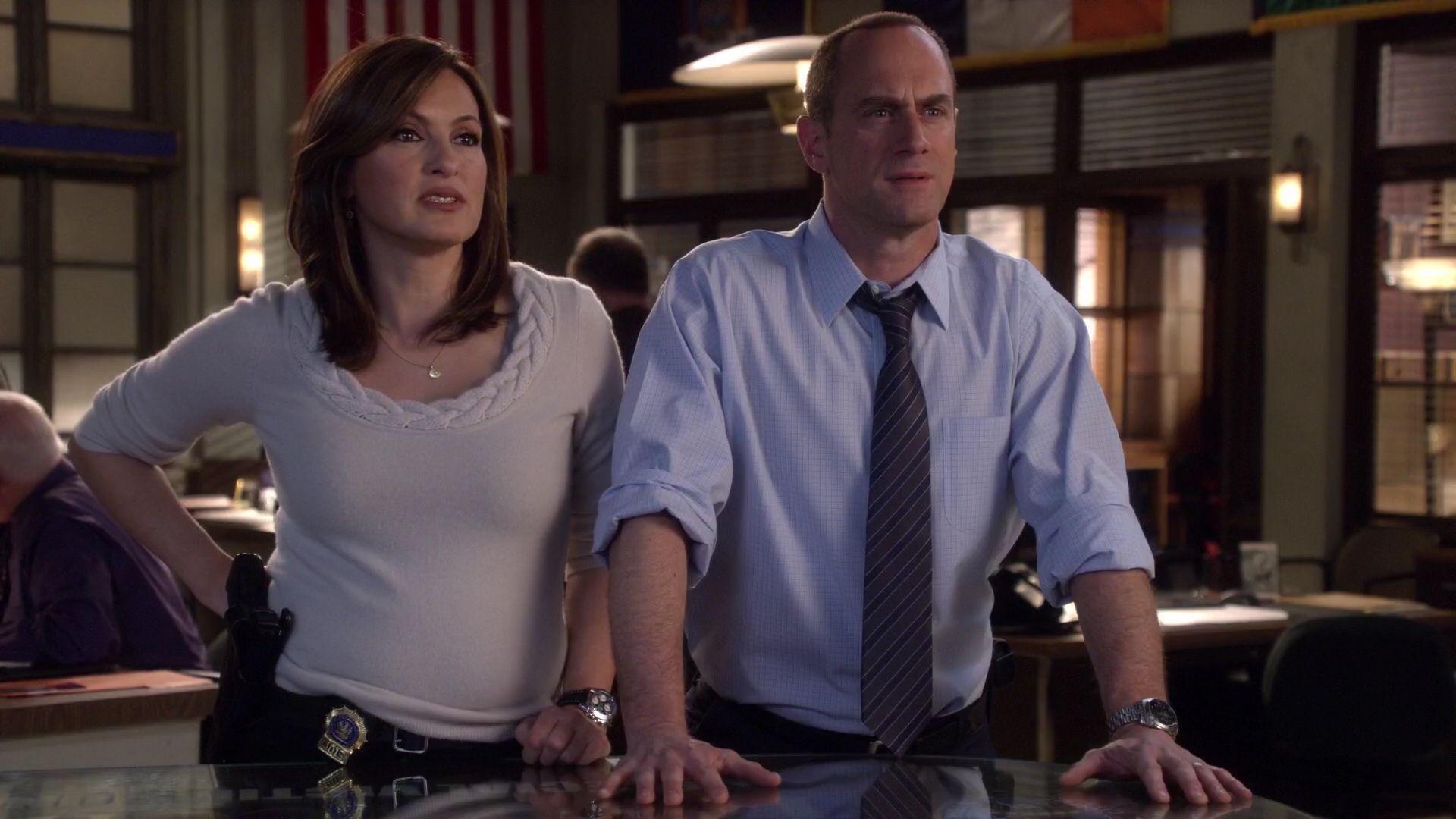 Olivia Benson e Elliot Stabler em Law & Order: SVU (Reprodução)