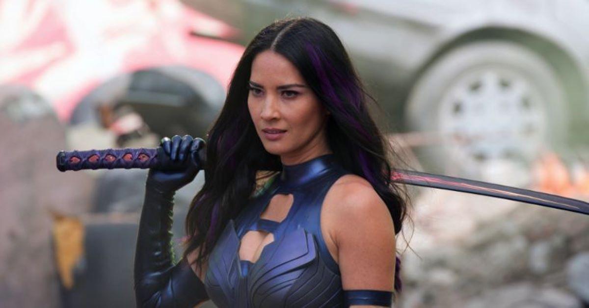 Olivia Munn como Psylocke em X-Men: Apocalipse (Divulgação)