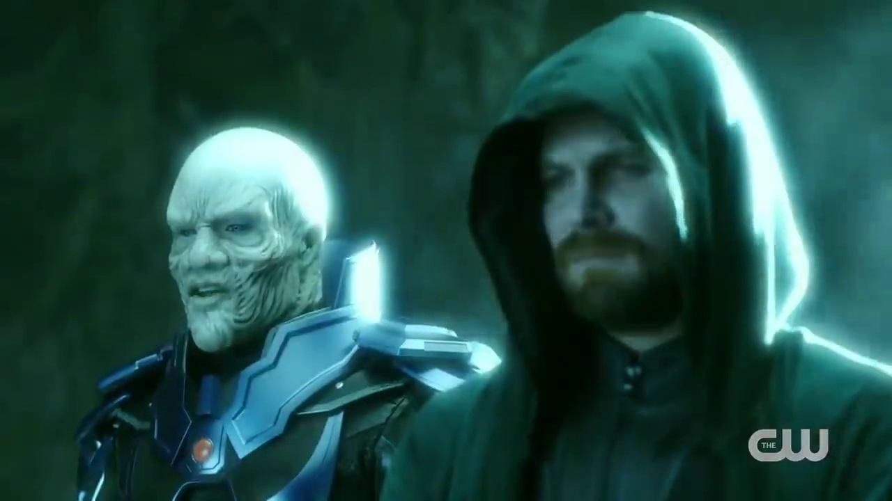 Antimonitor e Espectro em Crise nas Infinitas Terras (Reprodução / The CW)