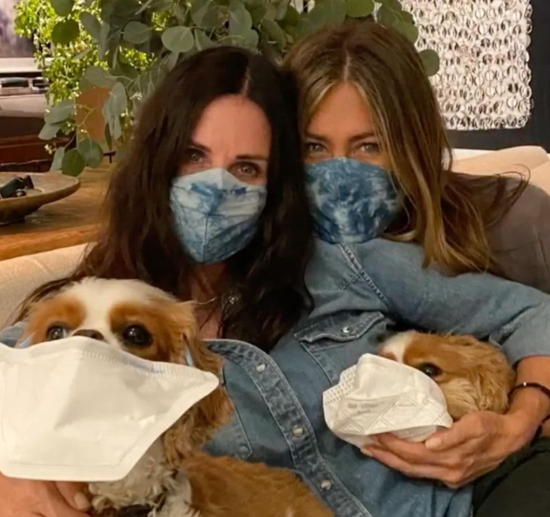 Courteney Cox e Jennifer Aniston