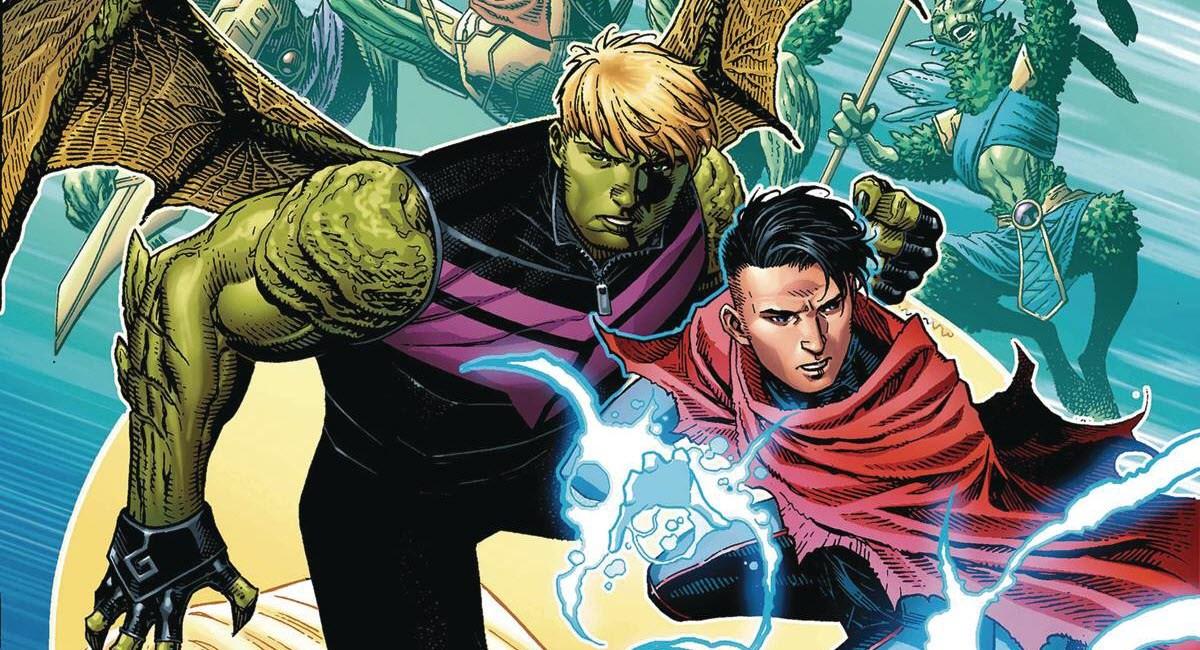 Hulkling e Wiccano (Divulgação / Marvel Comics)