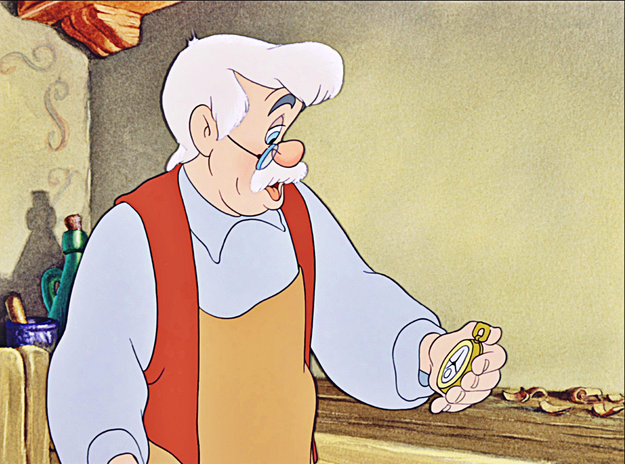 Geppetto em Pinocchio